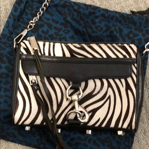 Rebecca Minkoff zebra pattern crossbody bag